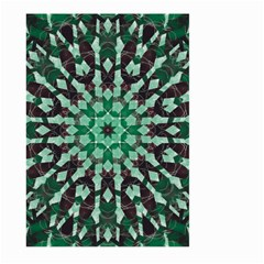 Abstract Green Patterned Wallpaper Background Large Garden Flag (two Sides)