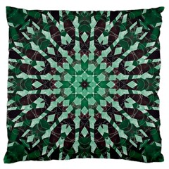 Abstract Green Patterned Wallpaper Background Large Cushion Case (one Side)