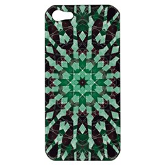 Abstract Green Patterned Wallpaper Background Apple Iphone 5 Hardshell Case by Nexatart