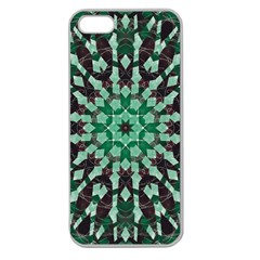 Abstract Green Patterned Wallpaper Background Apple Seamless Iphone 5 Case (clear)
