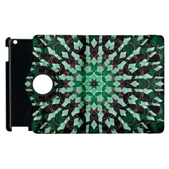 Abstract Green Patterned Wallpaper Background Apple Ipad 2 Flip 360 Case by Nexatart
