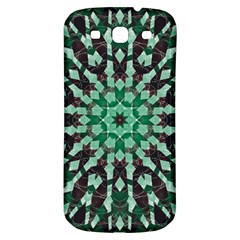 Abstract Green Patterned Wallpaper Background Samsung Galaxy S3 S Iii Classic Hardshell Back Case