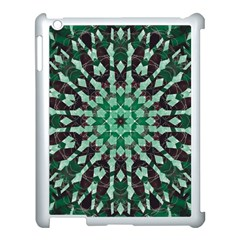 Abstract Green Patterned Wallpaper Background Apple Ipad 3/4 Case (white)