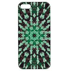 Abstract Green Patterned Wallpaper Background Apple Iphone 5 Hardshell Case With Stand