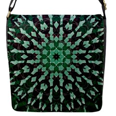 Abstract Green Patterned Wallpaper Background Flap Messenger Bag (s)