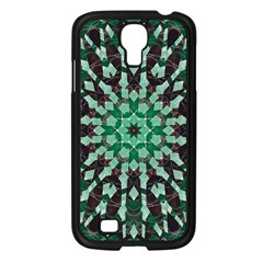 Abstract Green Patterned Wallpaper Background Samsung Galaxy S4 I9500/ I9505 Case (black) by Nexatart