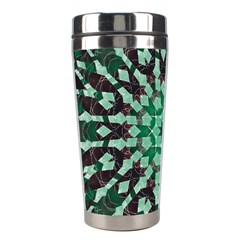 Abstract Green Patterned Wallpaper Background Stainless Steel Travel Tumblers