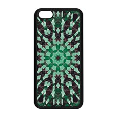 Abstract Green Patterned Wallpaper Background Apple Iphone 5c Seamless Case (black) by Nexatart