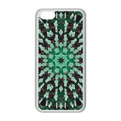 Abstract Green Patterned Wallpaper Background Apple Iphone 5c Seamless Case (white) by Nexatart