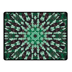 Abstract Green Patterned Wallpaper Background Double Sided Fleece Blanket (small)