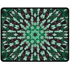 Abstract Green Patterned Wallpaper Background Double Sided Fleece Blanket (medium)  by Nexatart