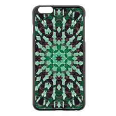 Abstract Green Patterned Wallpaper Background Apple Iphone 6 Plus/6s Plus Black Enamel Case
