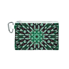 Abstract Green Patterned Wallpaper Background Canvas Cosmetic Bag (s) by Nexatart