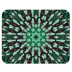 Abstract Green Patterned Wallpaper Background Double Sided Flano Blanket (medium)  by Nexatart