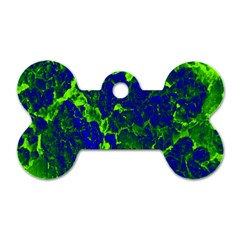 Abstract Green And Blue Background Dog Tag Bone (two Sides) by Nexatart