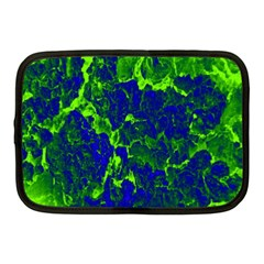 Abstract Green And Blue Background Netbook Case (medium)
