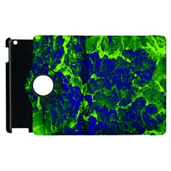 Abstract Green And Blue Background Apple Ipad 3/4 Flip 360 Case by Nexatart