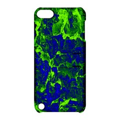 Abstract Green And Blue Background Apple Ipod Touch 5 Hardshell Case With Stand by Nexatart