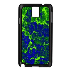 Abstract Green And Blue Background Samsung Galaxy Note 3 N9005 Case (black) by Nexatart