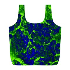 Abstract Green And Blue Background Full Print Recycle Bags (l)  by Nexatart