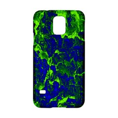 Abstract Green And Blue Background Samsung Galaxy S5 Hardshell Case  by Nexatart