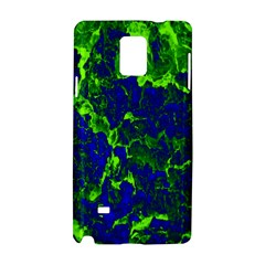 Abstract Green And Blue Background Samsung Galaxy Note 4 Hardshell Case by Nexatart