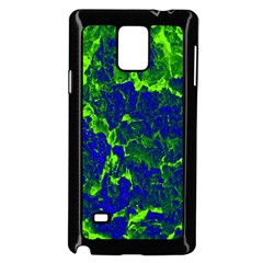 Abstract Green And Blue Background Samsung Galaxy Note 4 Case (black)