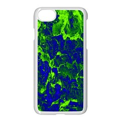 Abstract Green And Blue Background Apple Iphone 7 Seamless Case (white) by Nexatart