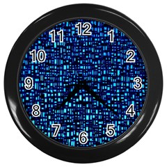 Blue Box Background Pattern Wall Clocks (black) by Nexatart