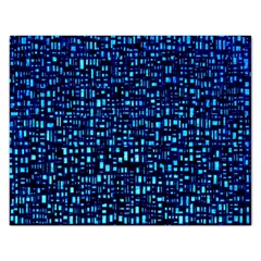 Blue Box Background Pattern Rectangular Jigsaw Puzzl