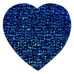 Blue Box Background Pattern Jigsaw Puzzle (heart) by Nexatart