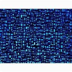 Blue Box Background Pattern Canvas 36  X 48