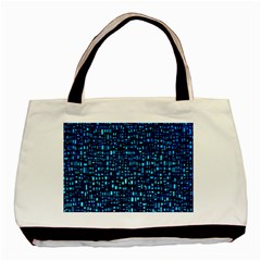 Blue Box Background Pattern Basic Tote Bag (two Sides)