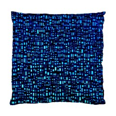 Blue Box Background Pattern Standard Cushion Case (two Sides)