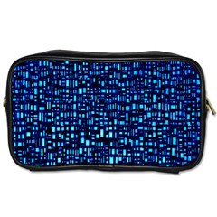 Blue Box Background Pattern Toiletries Bags by Nexatart