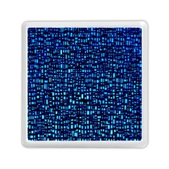 Blue Box Background Pattern Memory Card Reader (square)  by Nexatart