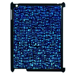 Blue Box Background Pattern Apple Ipad 2 Case (black)