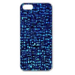 Blue Box Background Pattern Apple Seamless Iphone 5 Case (clear)