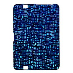 Blue Box Background Pattern Kindle Fire Hd 8 9  by Nexatart