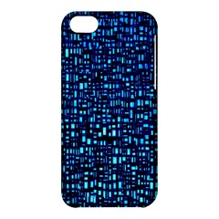 Blue Box Background Pattern Apple Iphone 5c Hardshell Case by Nexatart