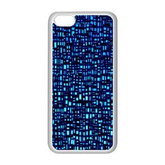 Blue Box Background Pattern Apple Iphone 5c Seamless Case (white) by Nexatart