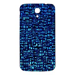 Blue Box Background Pattern Samsung Galaxy Mega I9200 Hardshell Back Case