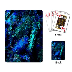 Underwater Abstract Seamless Pattern Of Blues And Elongated Shapes Playing Card by Nexatart