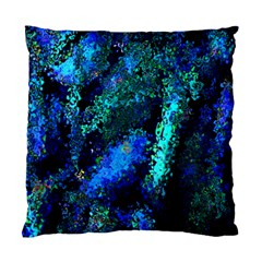 Underwater Abstract Seamless Pattern Of Blues And Elongated Shapes Standard Cushion Case (two Sides) by Nexatart