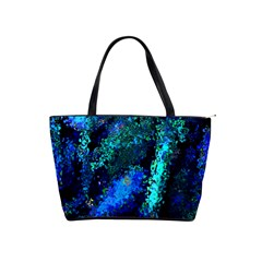 Underwater Abstract Seamless Pattern Of Blues And Elongated Shapes Shoulder Handbags by Nexatart