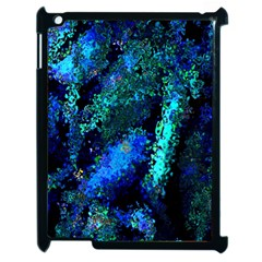Underwater Abstract Seamless Pattern Of Blues And Elongated Shapes Apple Ipad 2 Case (black) by Nexatart