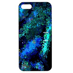Underwater Abstract Seamless Pattern Of Blues And Elongated Shapes Apple Iphone 5 Hardshell Case With Stand