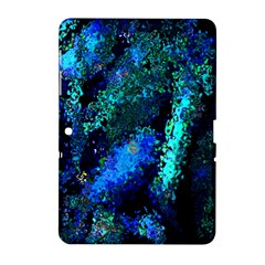 Underwater Abstract Seamless Pattern Of Blues And Elongated Shapes Samsung Galaxy Tab 2 (10 1 ) P5100 Hardshell Case  by Nexatart