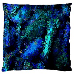 Underwater Abstract Seamless Pattern Of Blues And Elongated Shapes Standard Flano Cushion Case (one Side)