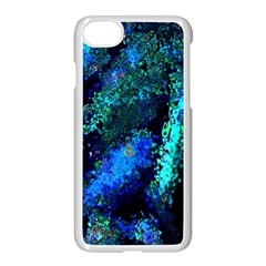 Underwater Abstract Seamless Pattern Of Blues And Elongated Shapes Apple Iphone 7 Seamless Case (white) by Nexatart